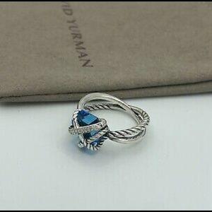 David Yurman Blue Topaz Wrap Ring